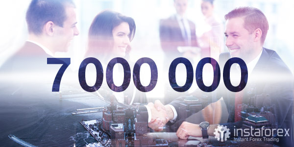 7,000,000 traders worldwide choose InstaForex