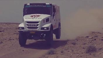 InstaForex Loprais Team: test drive in African desert