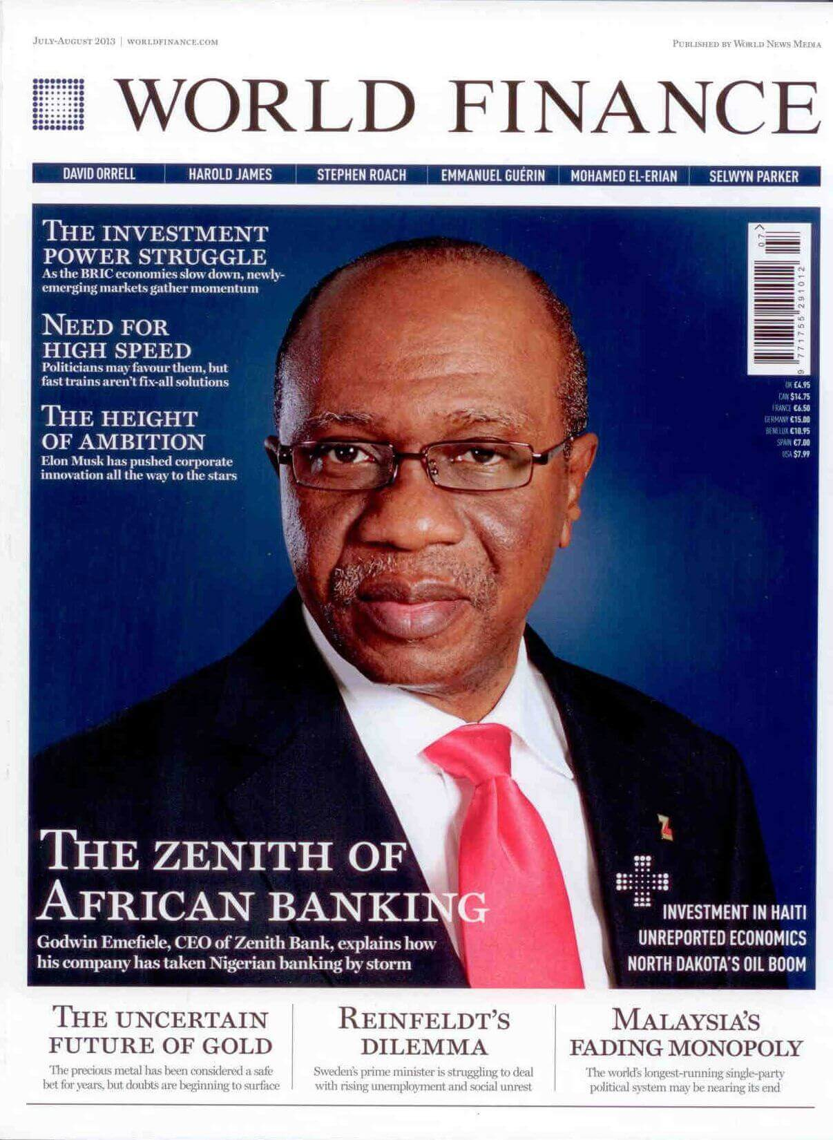 World Finance Magazine, August 2013