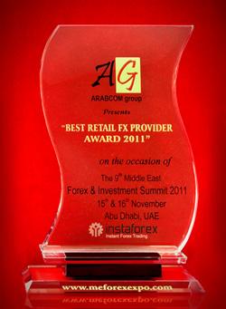 Forex & Investment Summit 2011 - Best Retail FX Provider Award 2011