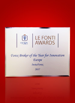 Forex Broker of the Year for Innovation Europe 2017 by Le Fonti Awards
