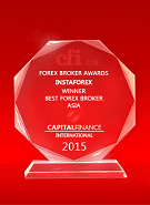 Best Broker Asia 2015 by Capital Finance International