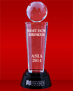 Mejor Bróker ECN en Asia 2014 por International Finance Magazine Awards