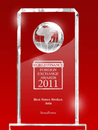 Miglior broker dell'Asia 2011 in base alla versione World Finance Awards 2011