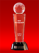 รางวัล Best ECN Broker in Asia 2016 จากทาง International Finance Awards