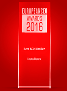«Meilleur Broker ECN 2016» selon European CEO