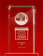 World Finance Awards 2009 - The Best Broker in Asia