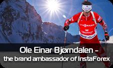 Ole Einar Bjorndalen - the brand  ambassador of InstaForex