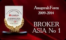 Dua kali Dianugerahkan Broker No1 di Asia