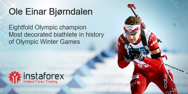Ole Einar Bjørndalen ตัวแทนของแบรนด์ InstaForex