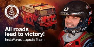 Alesh Loprais – pilota della squadra InstaForex Loprais Team